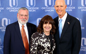 Mr. Fagin; Mimi Jankovits, Executive Director, OU Advocacy/Teach Florida and Governor of Florida Rick Scott.