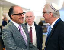 Lee C. Samson, sponsor of the OU's The Anne Samson Jerusalem Journey (TJJ); AIPAC President Mort Fridman and OU Israel CFO David Katz.