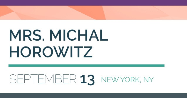 Mt. Sinai Jewish Center to Host Lecture by Mrs. Michal Horowitz