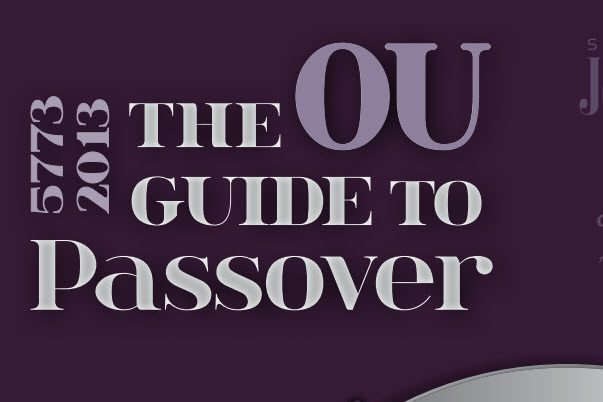 2013 Pesach Guide