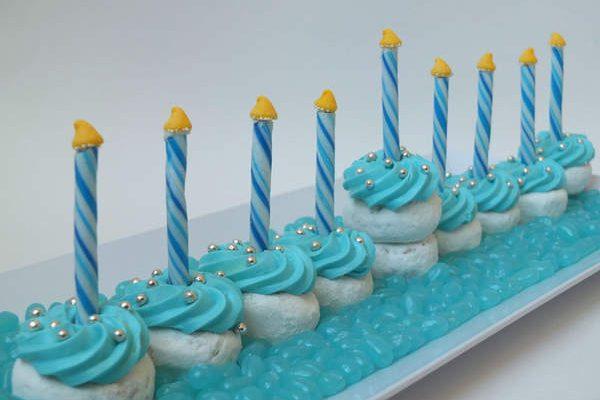Chanukah Cupcake Menorah