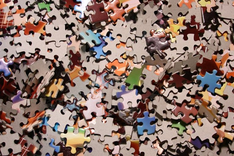Jumbled Jigsaw Puzzle Pieces