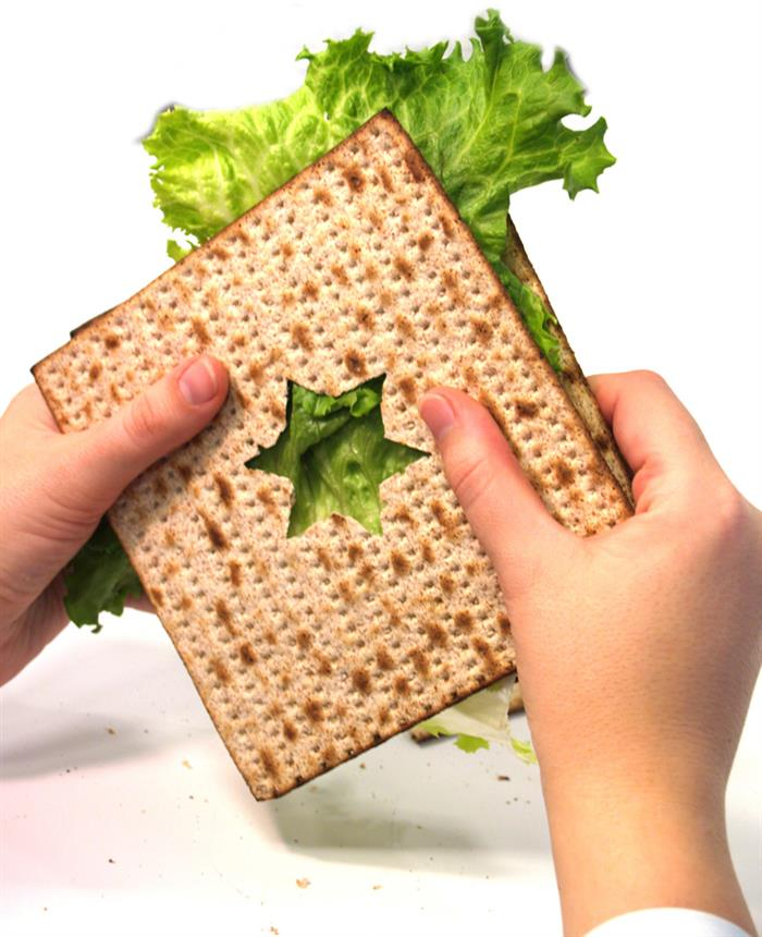Image result for image of eating matzah with bitter herbs sandwich
