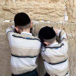 Children Davening at Kotel