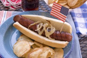 American July Fourth Barbecue Hot Dog Picnic