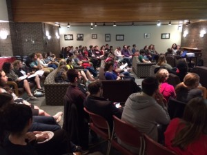 More than 80 students gathered for the panel on genetic screening at Rutgers University on October 14.