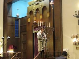 Chanukah at KAJ (courtesy of author).