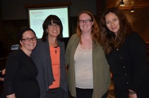 The organizers and speakers of the event. Left to right: Sara Frieberg, Zelda Wildman, Molly Ciarlariello and Elena Ashkinadze.