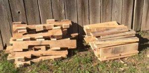The cut-up pallets