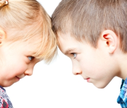 Children face to face