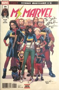 Ms. Marvel #25, signed by the author