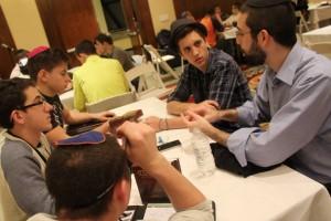 Teens learn at NCSY's Yarchei Kallah.