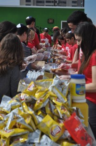 NCSYers packed lunches for the homeless in San Diego on Feb. 16