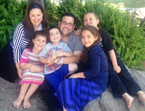 The Kaplan family (from left): Sharona, Rivky, Yakir,  Rabbi Aryeh, Shalva and Barak.
