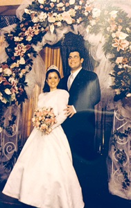Wedding photo of Rabbi Aryeh Kaplan and Sharona Saltzman,  New Jersey NCSY/Etz Chaim Region, December 24, 2000