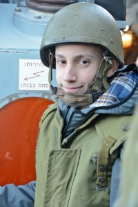 Roey wore an Israel Navy uniform when he toured the ship.