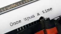 typewriter typing once upon time story
